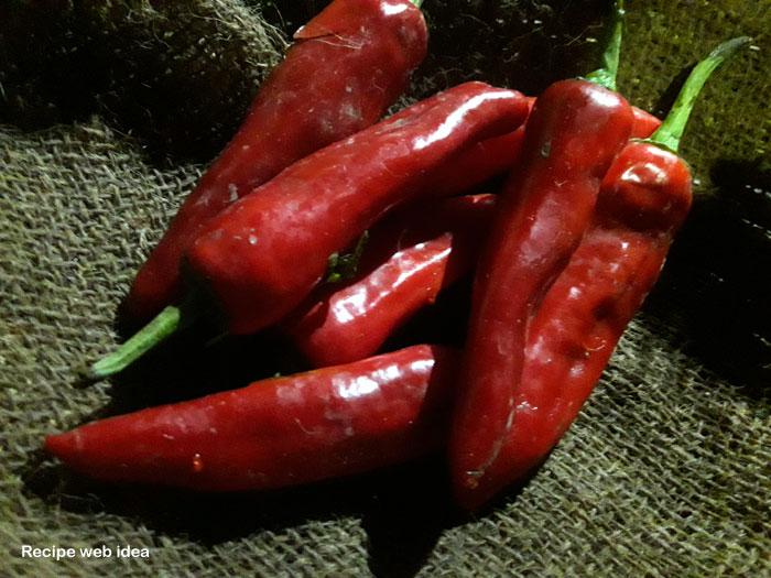 Red chili pickle recipe