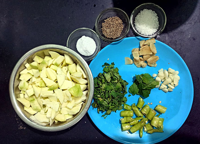 Raw Mango Chutney | Green mango chutney recipe