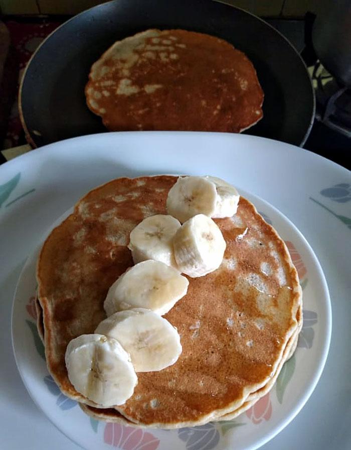 Banana pancakes recipe | Pancake recipe