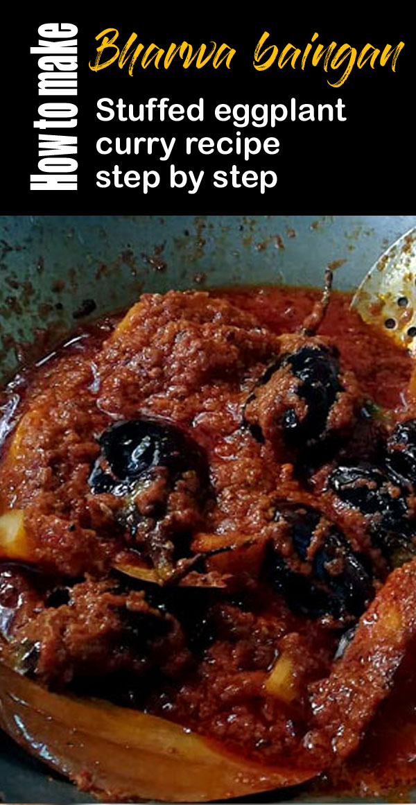 Bharwa baingan recipe | Stuffed eggplant curry