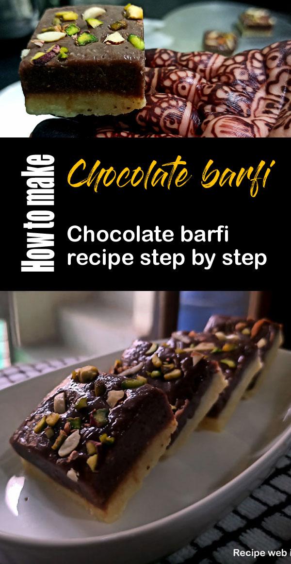 Chocolate barfi recipe| chocolate burfi | | Indian sweet