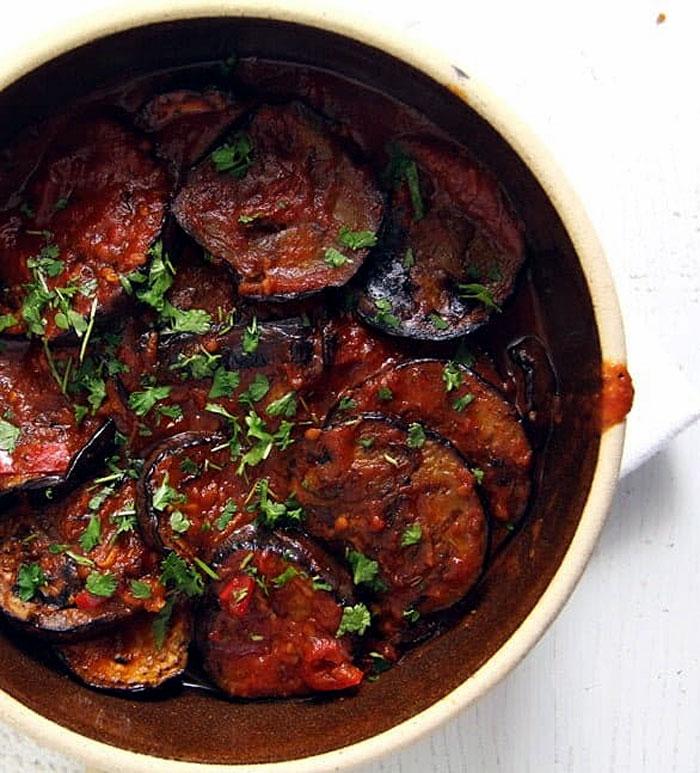 Eggplant In Tomato Sauce