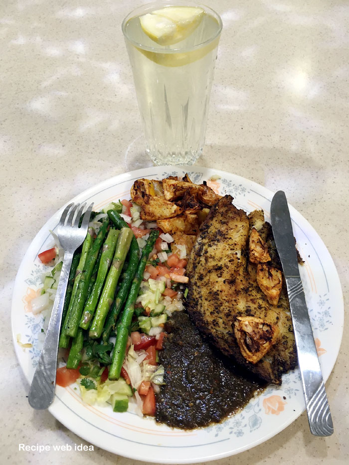 Grilled Tilapia Fish recipe with Asparagus